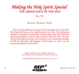 Making the Holy Spirit Special: The Arrogance of the Ego [MP3]