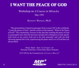 I Want the Peace of God [MP3]
