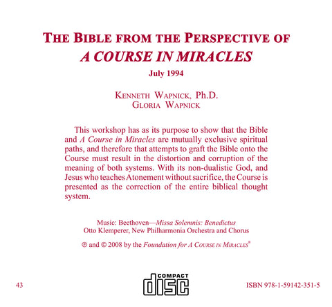 "The Bible from the Perspective of ""A Course in Miracles"" [CD]"