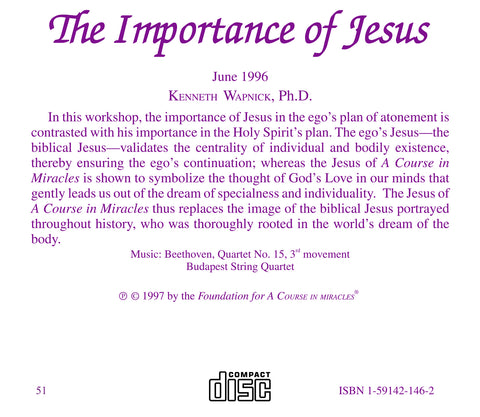The Importance of Jesus [CD]
