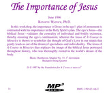 The Importance of Jesus [MP3]