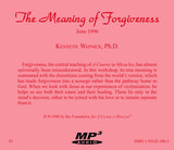 The Meaning of Forgiveness [MP3]