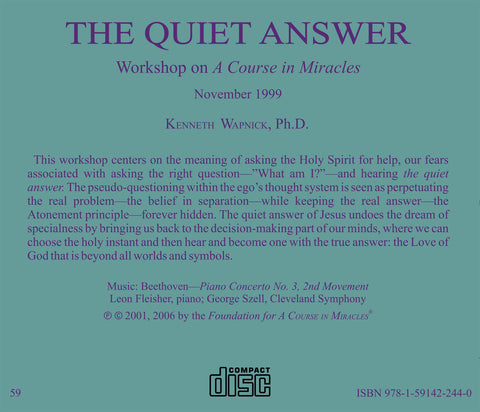 The Quiet Answer: Asking the Holy Spirit [CD]