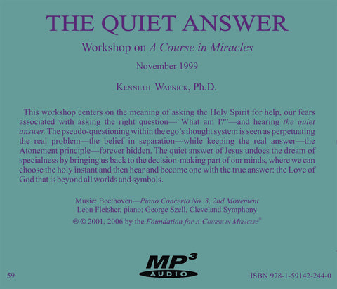 The Quiet Answer: Asking the Holy Spirit [MP3]
