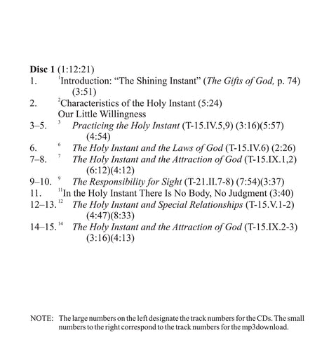 The Meaning of the Holy Instant [MP3]