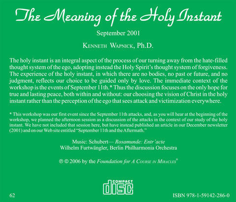 The Meaning of the Holy Instant [CD]