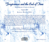 Forgiveness and the End of Time [CD]