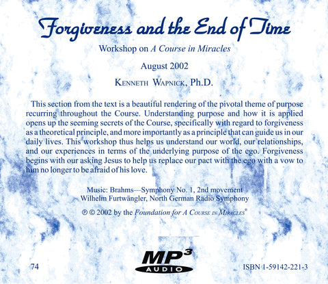 Forgiveness and the End of Time [MP3]
