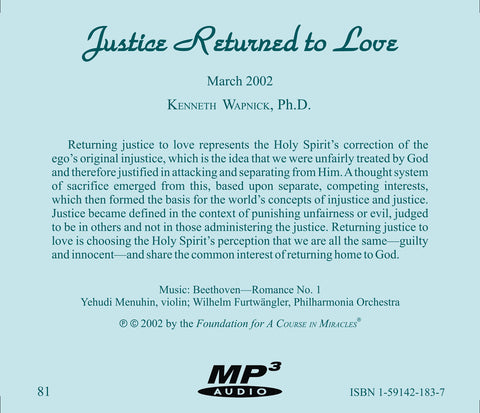 Justice Returned to Love [MP3]
