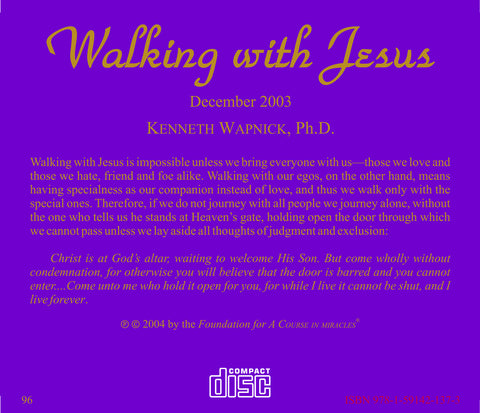 Walking with Jesus [CD]