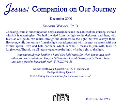 Jesus: Companion on Our Journey [CD]