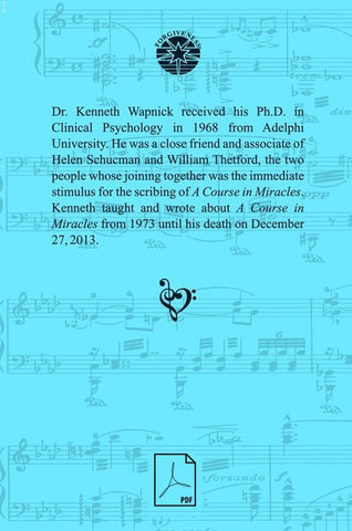 A Symphony of Love–Selections of Dr. Kenneth Wapnick's Writings: Autobiographies, Poetry, Short Stories, and Articles [PDF]