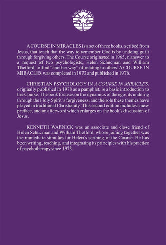 Christian Psychology in A Course in Miracles [BOOK]