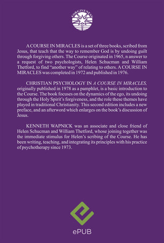 "Christian Psychology in ""A Course in Miracles"" [EPUB]"