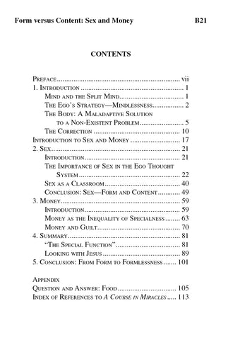 Form versus Content: Sex and Money [BOOK]