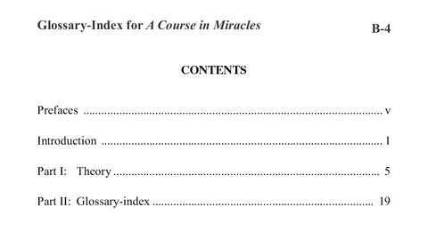Glossary-Index for A Course in Miracles [BOOK]