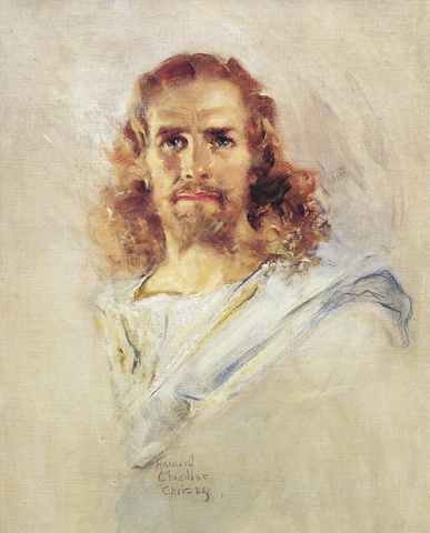 """Head of Christ"" painting by Howard Chandler Christy [ARTS and PRINTS]"
