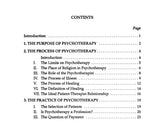 Psychotherapy: Purpose, Process and Practice [PAMPHLET]
