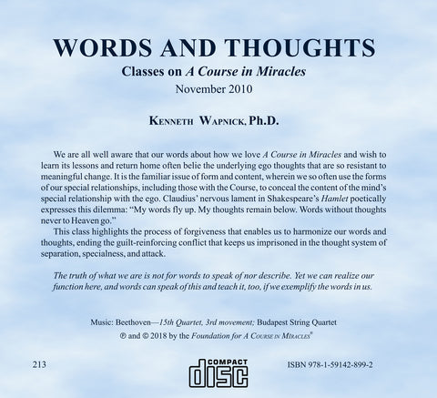 Words and Thoughts [CD]