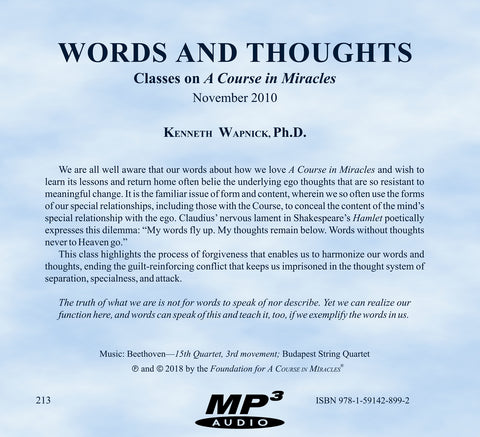 Words and Thoughts [MP3]