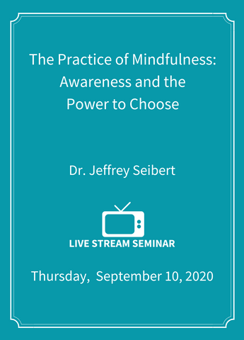 The Practice of Mindfulness: Awareness and the Power to Choose - Live Stream [SEMINAR]