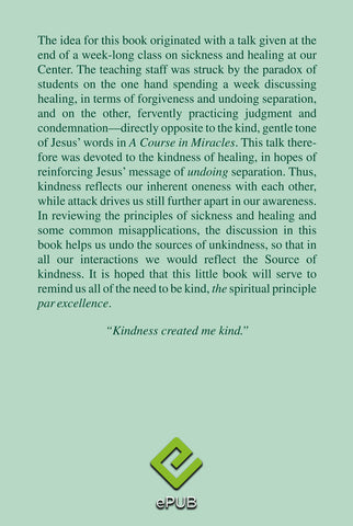 The Healing Power of Kindness-Vol. 1, Releasing Judgment [EPUB]