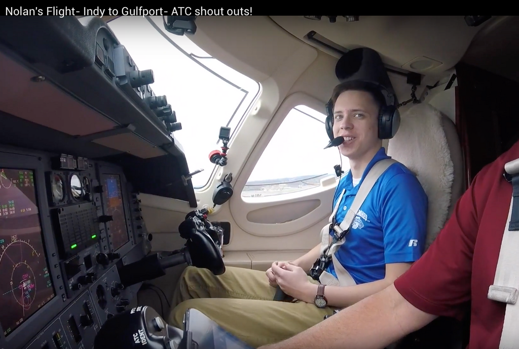 Nolan's Flight-Indy to Gulfport- ATC Shout outs!