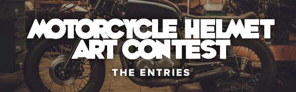 Motorcycle Helmet Art Contest - Entries and Preliminary Round Dates