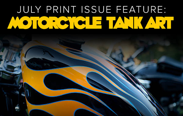July Print Feature - Motorcycle Tank Art