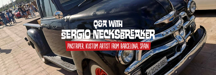 Q&A with Sergio Necksbreaker, pinstriper and kustom painter from Spain