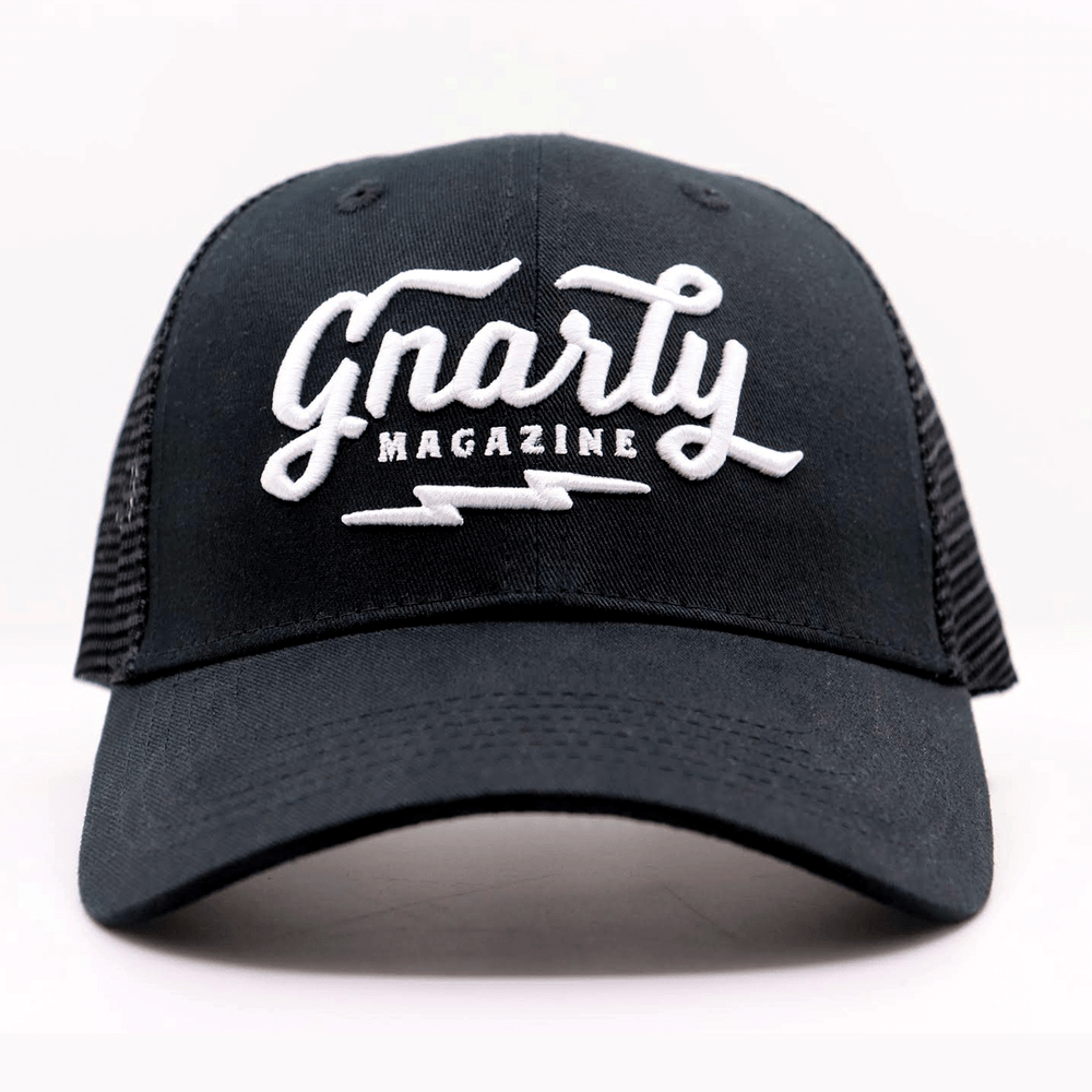 Gnarly Magazine logo Trucker Hats - Front