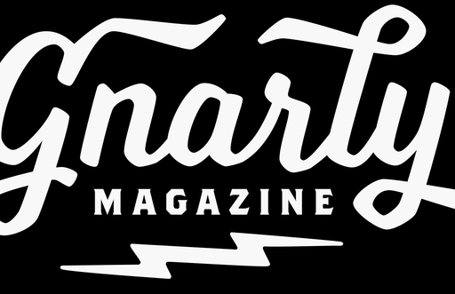 Gnarly Magazine logo sticker