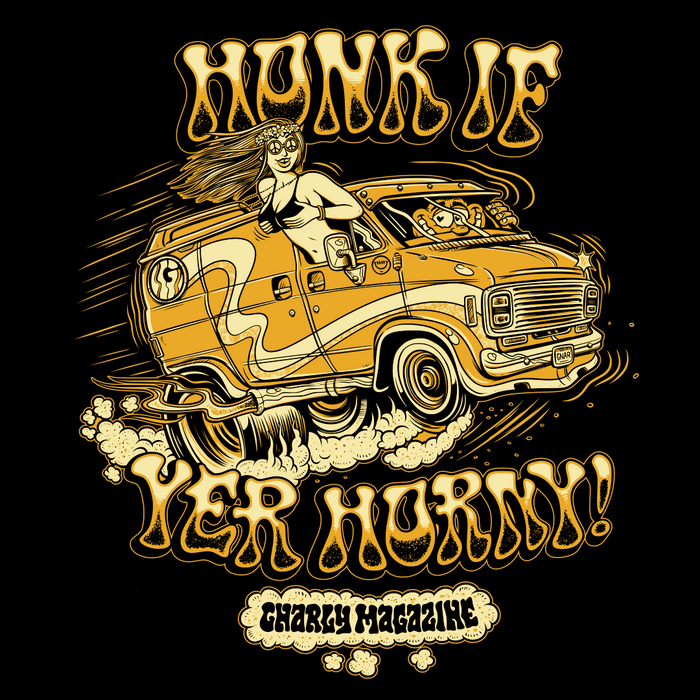 Honk If Yer Horny t-shirt FRONT DESIGN
