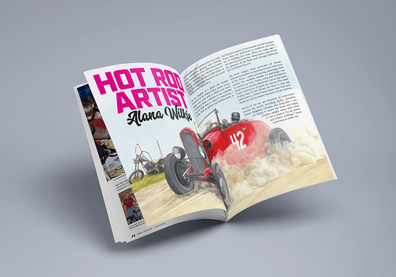 Gnarly Magazine - Issue #7 - Hot Rod Artist Alana Wilkie
