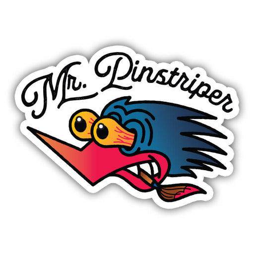 Gnarly Magazine Mr. Pinstriper Sticker