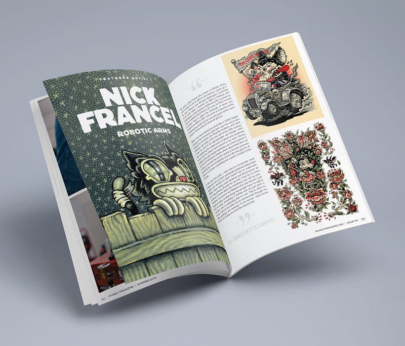 Gnarly Magazine - Issue #9 - Nick Francel - Robotic Arms