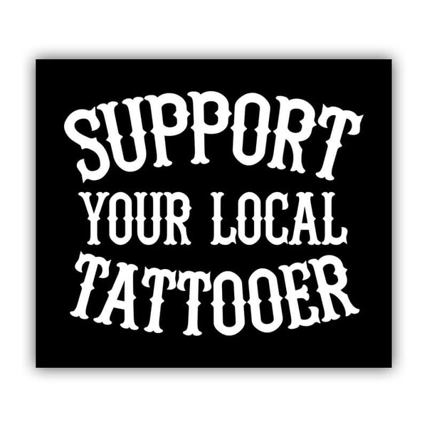 Gnarly Magazine Support Your Local Tattooer Sticker