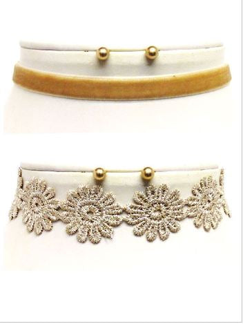 Flower Power Choker Necklace Set