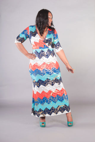 Diva Cut Out Tulip Maxi Dress