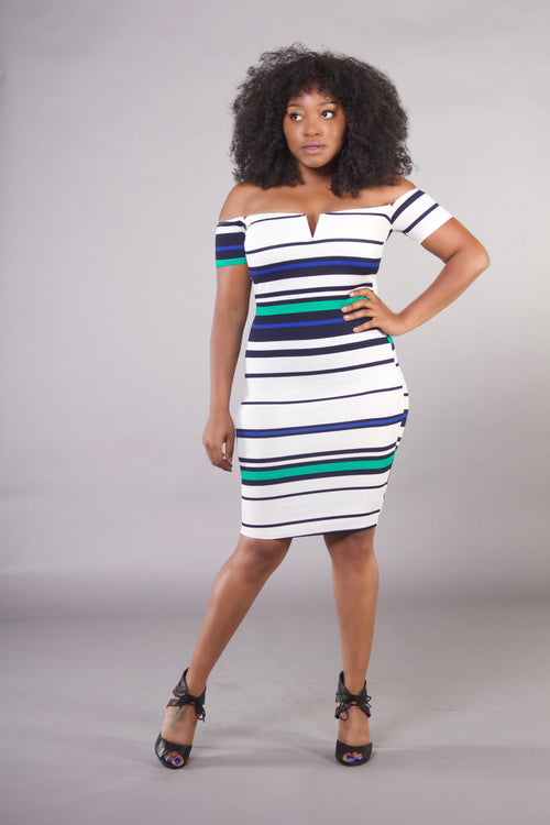 Nothing But Stripes Midi Dress