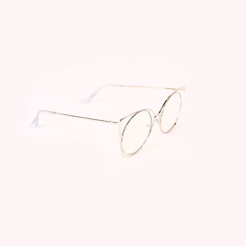 Oversized Clear Lens Open Wire Frame Glasses