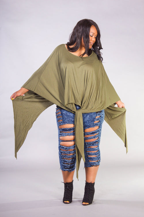 Round Neck Draped Top