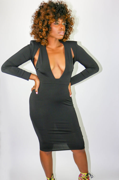 Showstopper Dress-Black