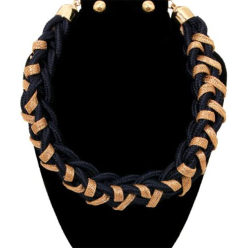 Cord Chain Necklace Set