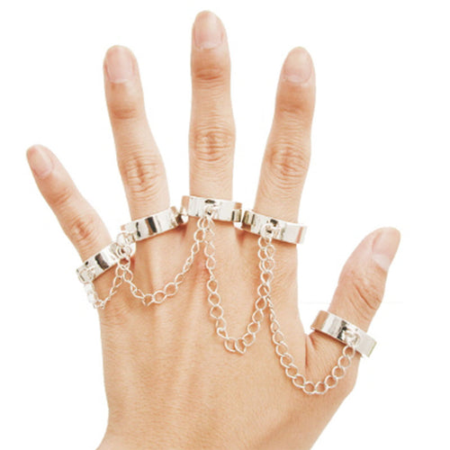 Linked Up 5 Finger Ring