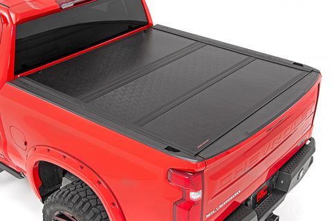 "GM Low Profile Hard Tri-Fold Tonneau Cover (19-20 1500 PU - 5' 8"" Bed)"