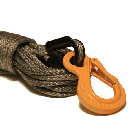 Grey Synthetic Winch Rope with HD Excel Eye Sling Hook