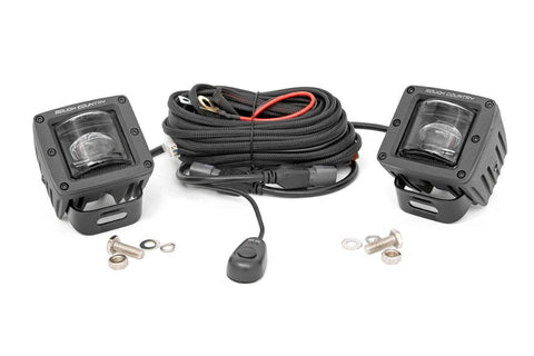2-inch Square Cree LED SAE Fog Lights - (Pair)