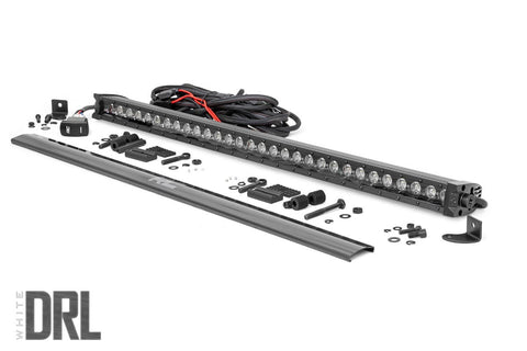 30-inch Cree LED Light Bar - (Single Row | Black Series w/ Cool White DRL)
