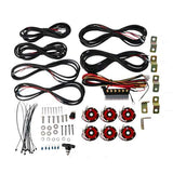 CYCLONE LED ROCK LIGHT KIT, UNIVERSAL 6 PC RED – #91037